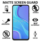 YOFO Matte Screen Guard  for Mi Redmi 9 / 9A / 9i / Redmi 9Prime, Poco C3, Realme Narzo 20 / Narzo 20A / A9 2020 Full Screen Coverage