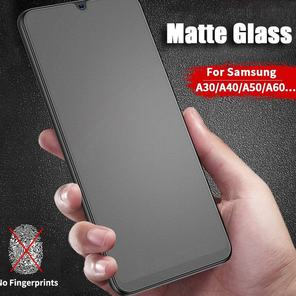 YOFO Anti Glare Matte Finish Anti-Fingerprint 9H Tempered Glass Screen Protector for SAMSUNG A30