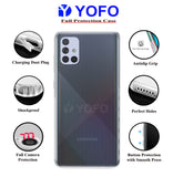 YOFO Back Cover for Samsung A51 (Transparent) with Dust Plug & Camera Protection