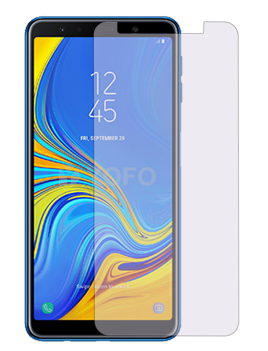 YOFO Anti Glare Matte Finish Anti-Fingerprint 9H Hammer Glass Screen Protector for Samsung A7(2018)