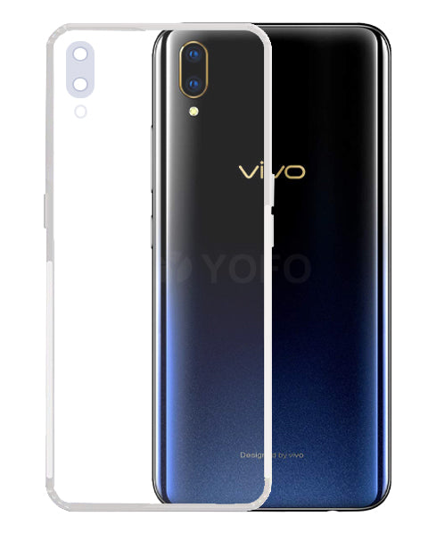 YOFO Silicon Full Protection Back Cover for Vivo V11 Pro (Transparent) Shockproof Ultra Thin