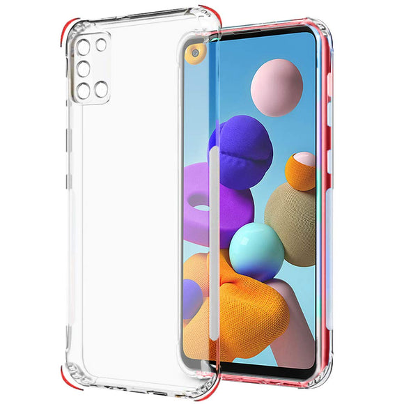 YOFO Camera protection Back Cover for Samsung A21s (Transparent) with Dust Plug