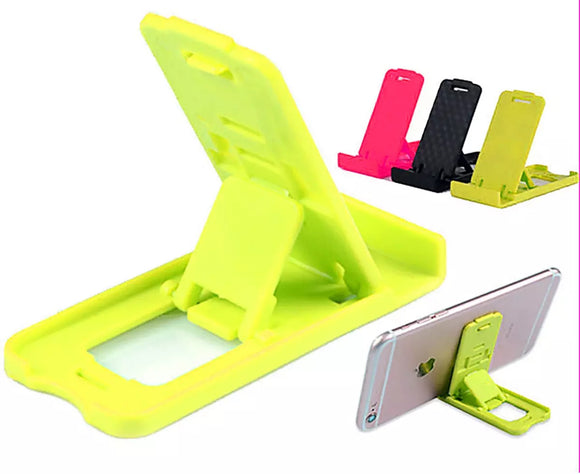 YOFO Mini Foldable 4 Steps Adjustable Universal mobile Stand multi colour