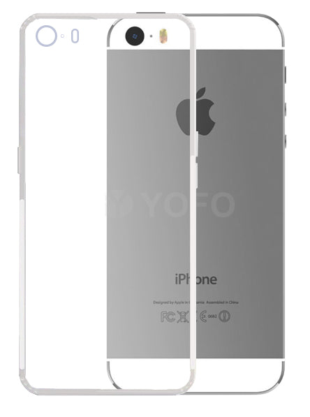 YOFO Back Cover for iPhone 5 (Transparent) with Dust Plug & Camera Protection