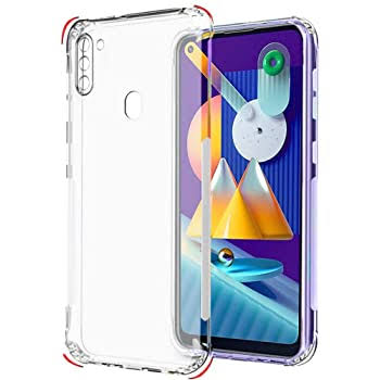 YOFO Shockproof Soft Transparent Back Cover for Samsung M11 - (Transparent)