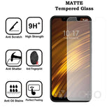 YOFO Anti Glare Matte Finish Anti-Fingerprint 9H 100% Tempered Glass Screen Protector for MI Poco F1 (Transparent)