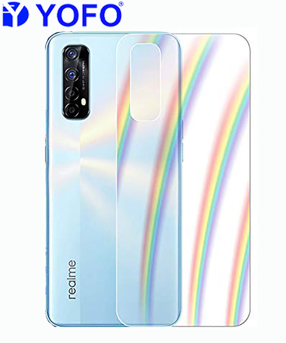 YOFO Rainbow Effect Anti Scratch Back Screen Guard for Realme 7