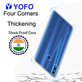 YOFO Rubber Back Cover Case for Honor 10 Lite (Transparent) with Bumper Corner