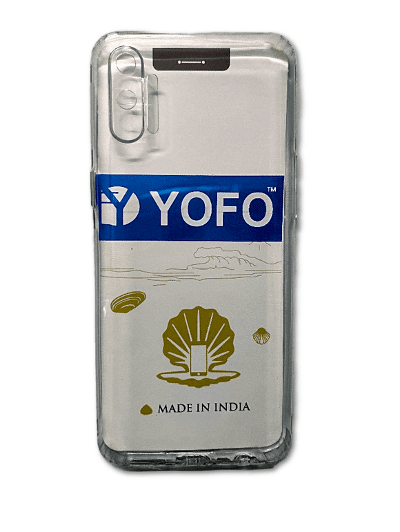 YOFO Camera Protection Back Case Cover for Realme C3 (Transparent) with Dust Plug