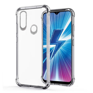 YOFO Shockproof Transparent Back Cover for VIVO U10 - (Transparent)