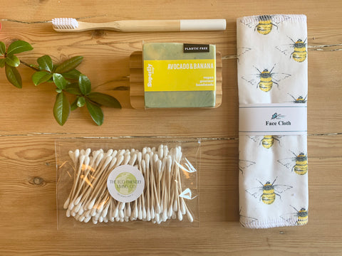 Plastic free eco friendly bathroom set