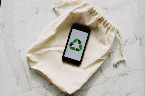 recycling green triangle symbol