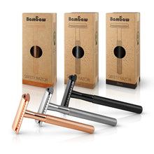 Load image into Gallery viewer, Bambaw Metal Unisex Safety Razor in Rose Gold, Silver or Black.
