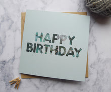 Load image into Gallery viewer, Green Leaf Happy Birthday Card