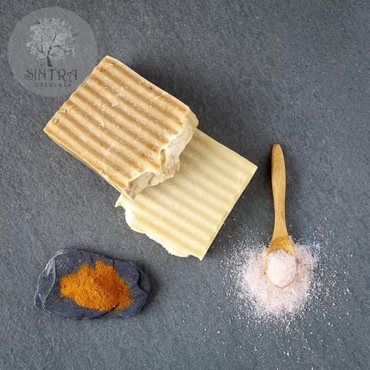 SLS free and plastic-free Salt Spa soap bar from Sintra Naturals.