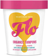 Load image into Gallery viewer, Flo Organic Tampons With Eco-Applicator