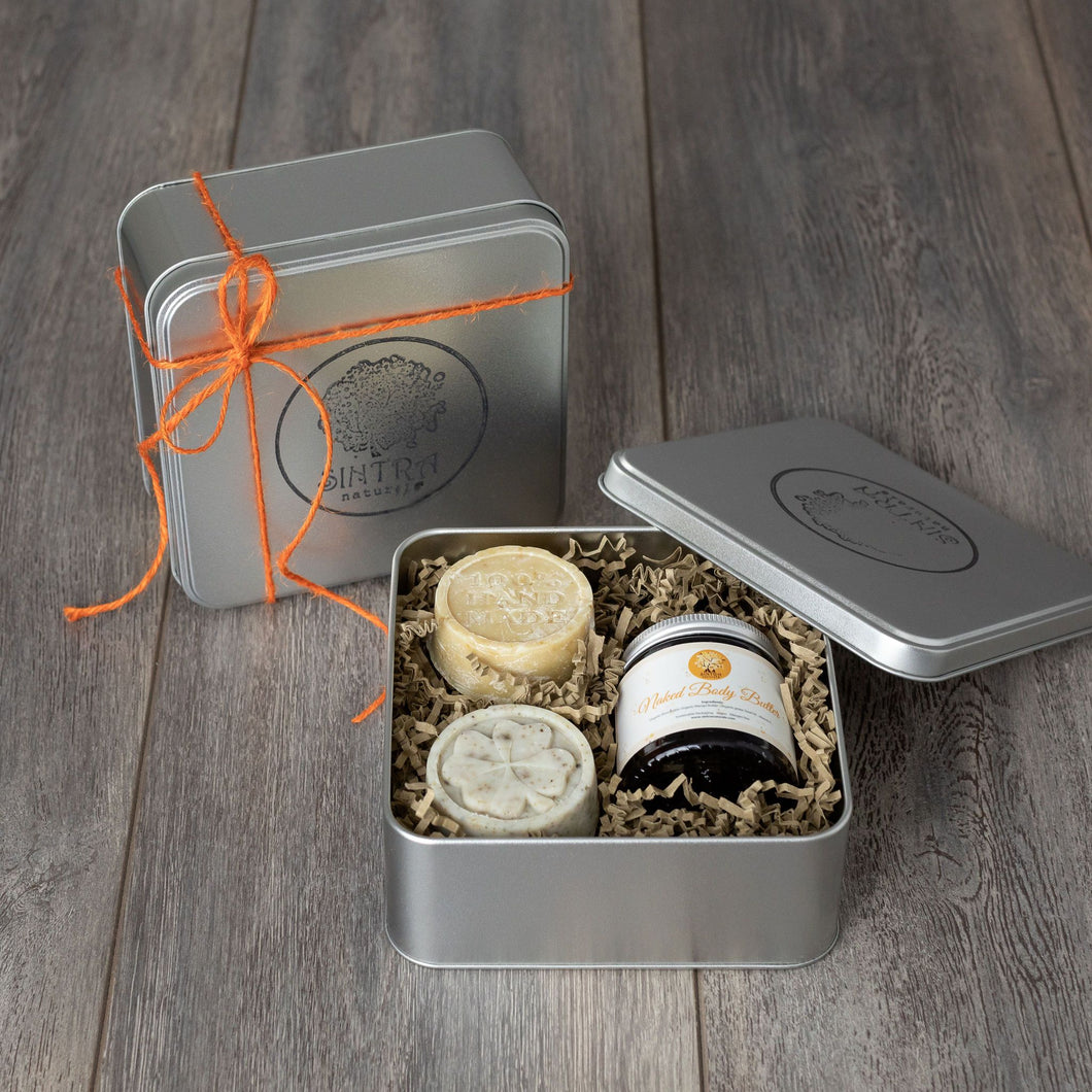 Plastic-free gift sets from Sintra Naturals.
