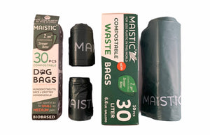 Maistic Compostable Dog Waste Bags- Pack of 30 for medium to small dogs