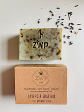 Load image into Gallery viewer, Zero Waste Path Lavender Soap Bar