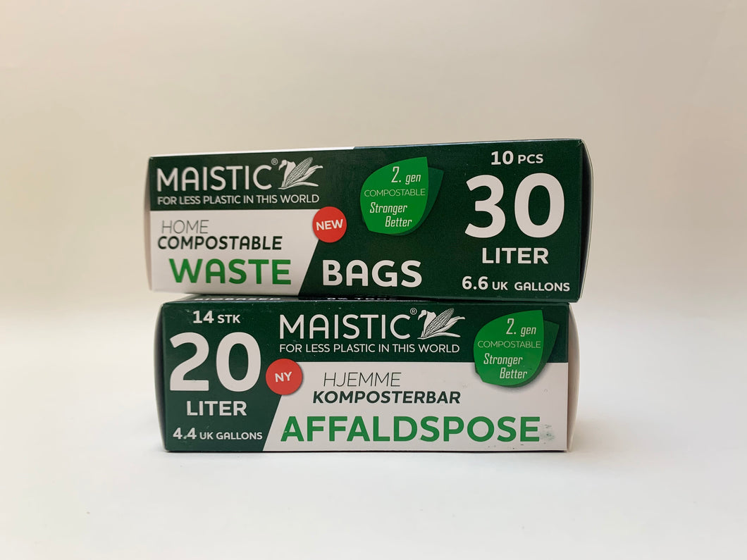 Maistic Compostable Waste Bags- 30litre or 20litre