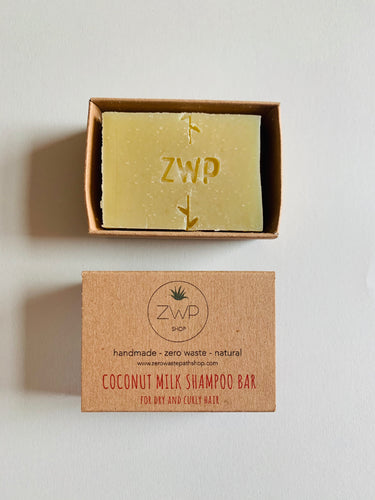 Zero Waste Path Coconut Milk Shampoo Bar