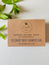 Load image into Gallery viewer, Zero Waste Path Rosemary Mint Shampoo Bar