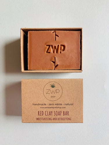 Zero Waste Path Red Clay Soap Bar