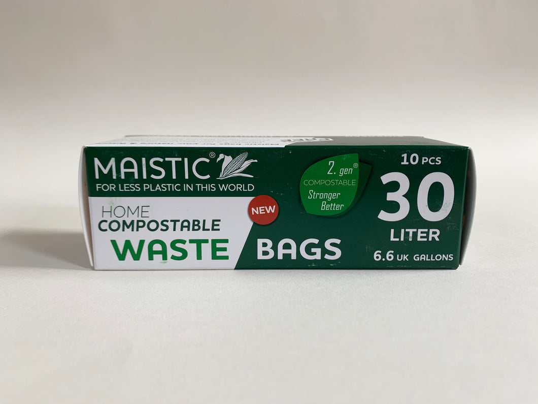 Maistic Compostable Waste Bags 30 litre- 10 pack