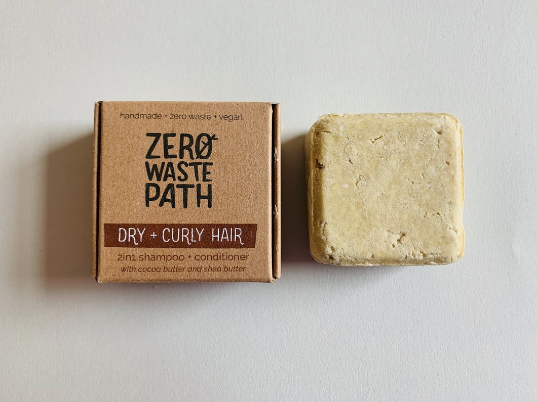 Zero Waste Path 2in1 Shampoo + Conditioner - Dry + Curly Hair