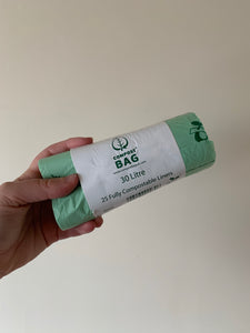 Fully Compostable Bin Liners-25 pack 30litre