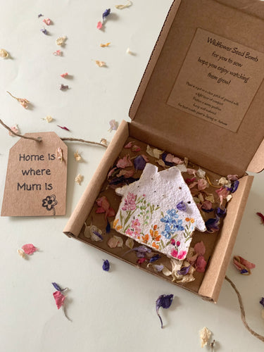 'Home is where Mum is' Wildflower Seed Bomb