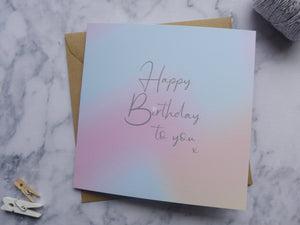 Holographic Watercolour Birthday Card