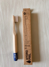 Load image into Gallery viewer, Hydrophil eco friendly bamboo toothbrush for kids in blue