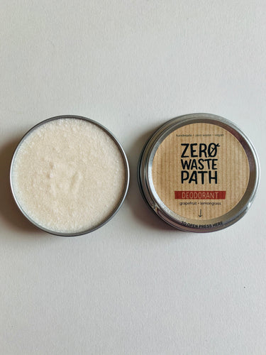 Zero Waste Path Grapefruit & Lemongrass Deodorant