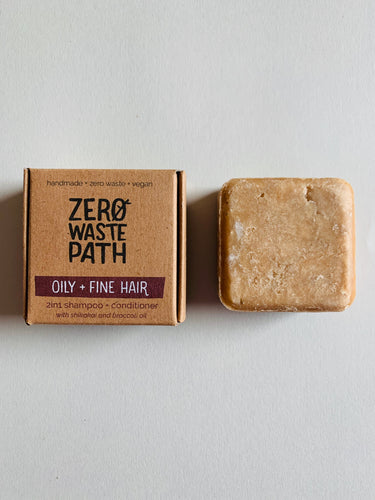 Zero Waste Path 2in1 Shampoo + Conditioner - Oily + Fine Hair