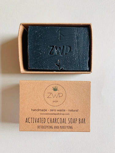 Zero Waste Path Activated Charcoal Soap Bar