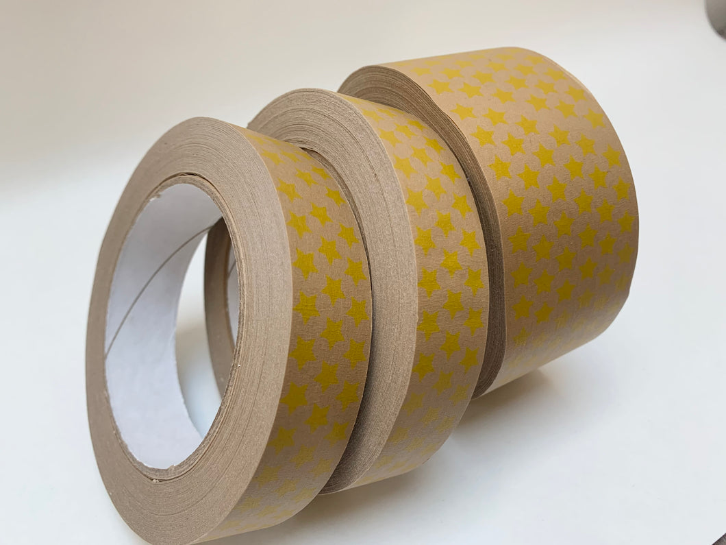 Yellow Star Self Adhesive Brown Kraft Paper Tape 50m