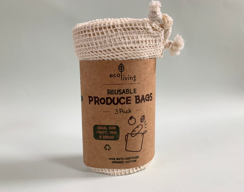 Ecoliving 3 Pack Organic Produce & Bread Bags