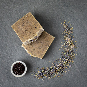 SLS free and plastic-free Lavender soap bar from Sintra Naturals.