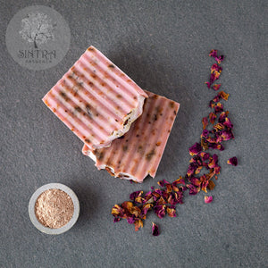 SLS free and plastic-free Rose soap bar from Sintra Naturals.