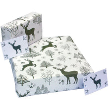 Load image into Gallery viewer, Re-Wrapped Recycled Wrapping Paper- Scandi Deer