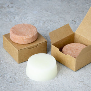 Plastic-free and vegan shampoo bar from Sintra Naturals.
