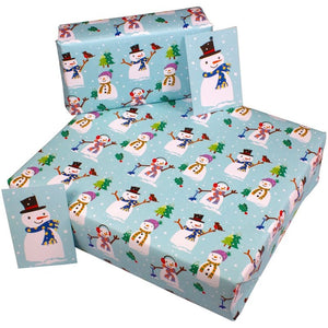 Re-Wrapped Recycled Wrapping Paper- Christmas Snowmen
