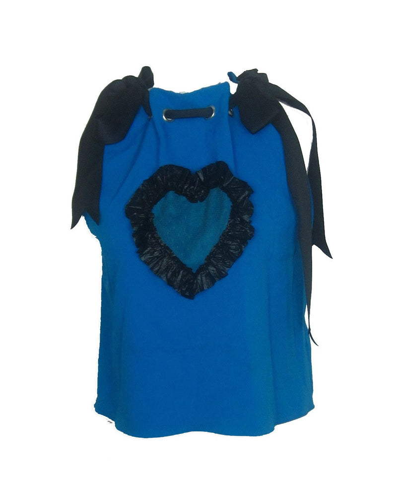 Cross my Heart Blue Top *SAMPLE*
