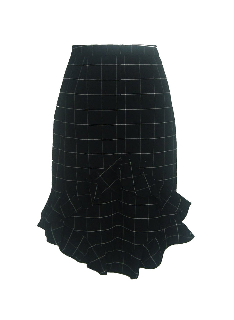 Diamond checked Skirt