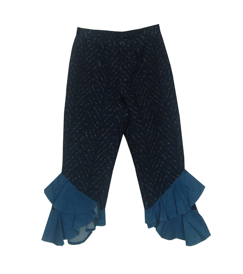 Textured Winged Pants