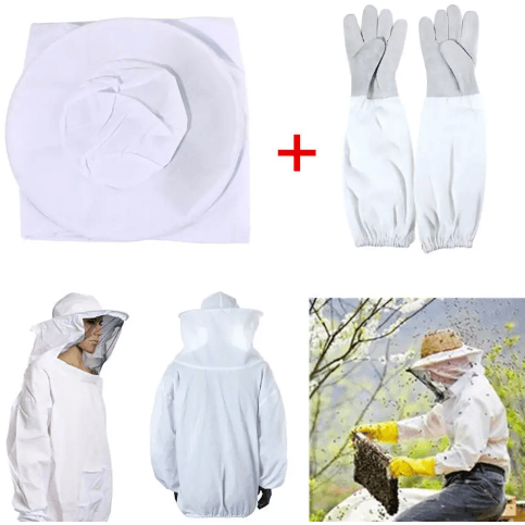 Bee Keeping Jacket Veil Suit +1 Pair Long Sleeve Gloves Bee Keeping. Arts & Crafts, Home & Decor Corner of Value