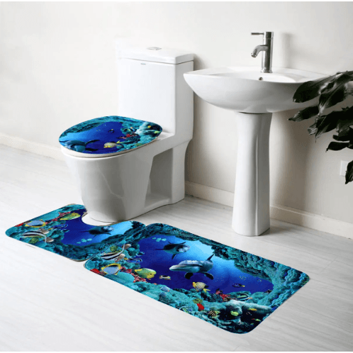 Bath Rugs With Velvet Fabric 3 pc Set banggood