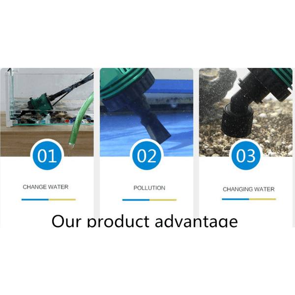 Fish Tank Aquarium Electronic Water Changer Gravel Cleaner Electrical Equipment Pet Supplies Corner of Value