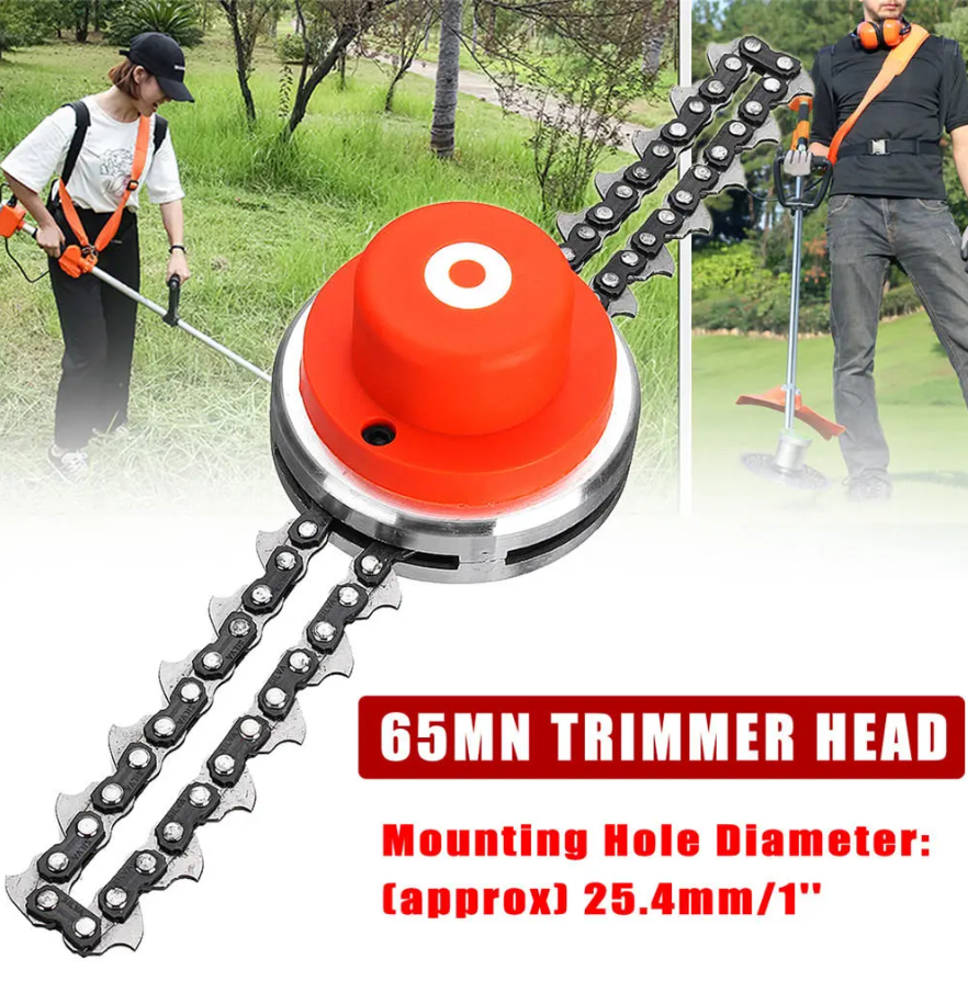 65Mn Trimmer Head with Sawchain for Lawn Mower